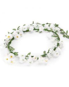 White cluster flower garland