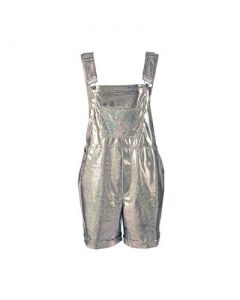 Short Silver Dungarees