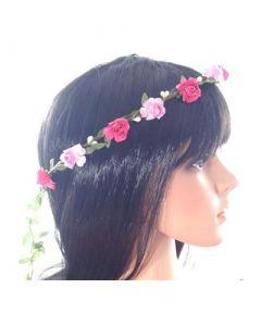 Flower head garland pinks
