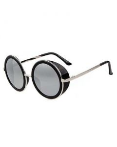 Steam punk glasses silver lens