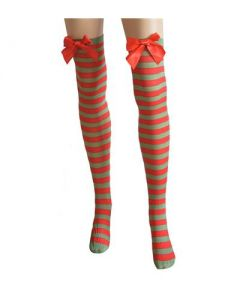 Red and green stockings w bow
