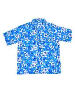 Floral Hawaiian Shirt Turquoise