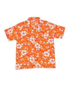 Floral Hawaiian Shirt Orange