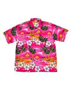 Hawaiian Shirt With Palm Trees Pink