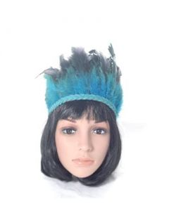 Feather headdress turquoise