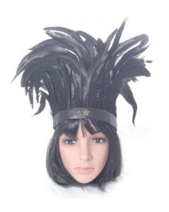 Feather headdress black