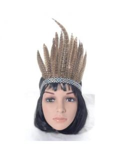 Feather headdress brown