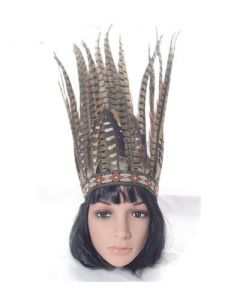 Feather headdress large brown