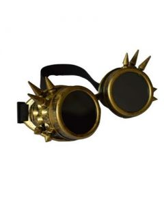 Steam punk goggles w rivet antique brass