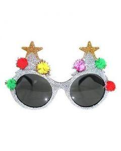 Xmas tree glasses silver