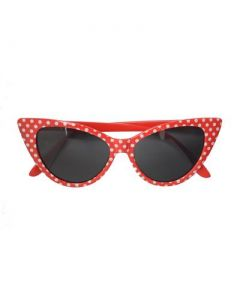 Red pointy polka dot sunglasses