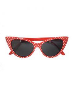 Red pointy polka dot sunglasses