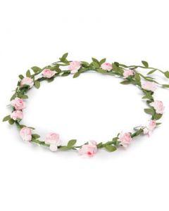 Flower garland baby pink