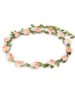 Flower garland peach