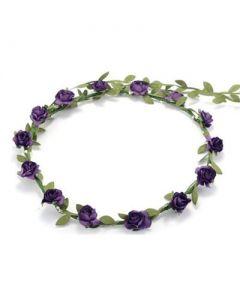 Flower garland purple
