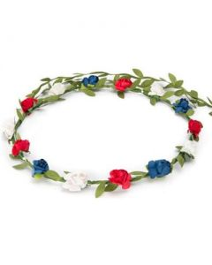 Flower garland red, white and blue