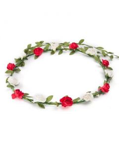 Flower garland red and white