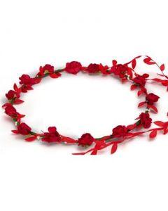 Flower garland red w red trail
