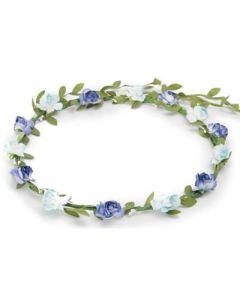 Flower garland 2 tone blue