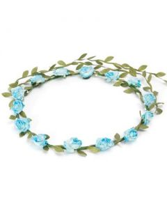 Flower garland turquoise