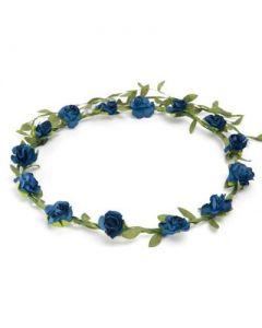 Flower garland dark blue