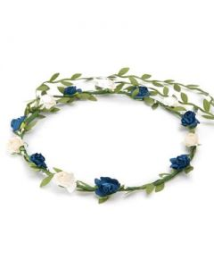 Flower garland blue and white