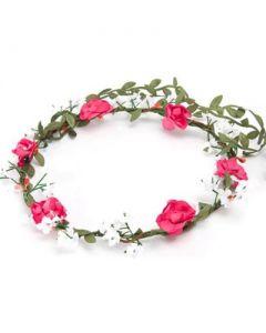 Flower garland bushy pink