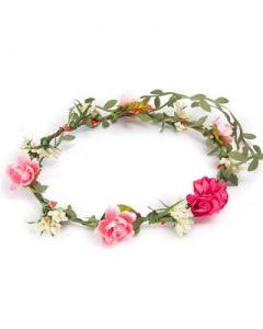 Flower garland pink cluster