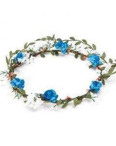 Flower garland turquoise bushy