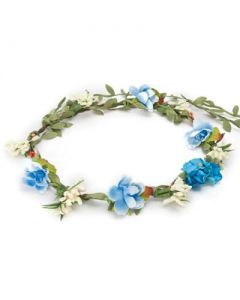 Flower garland turquoise cluster