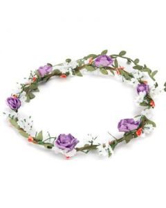 Flower garland purple bushy