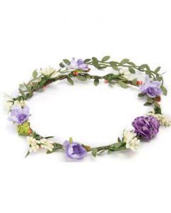 Flower garland purple cluster