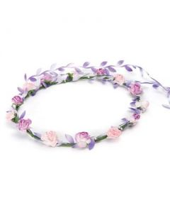 Flower garland lilac and pink w 2 tone trail
