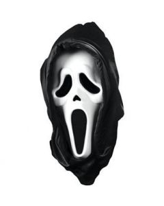 Scream mask with hood