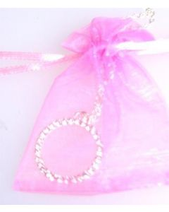 Diamante necklace in gift bag