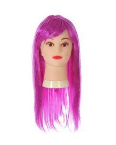 Long Purple Fringe Wig