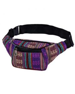 Purple Canvas Bumbag