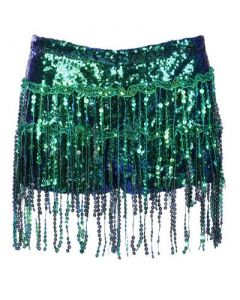 Green Tassel Hotpants