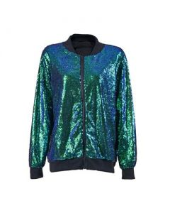 Aqua green sequin jacket