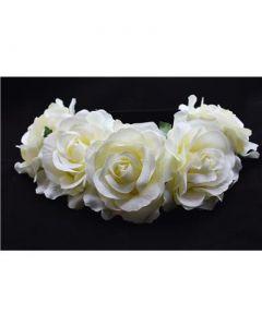Large ivory flower garland on elastic