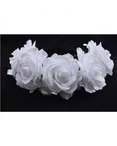 Large white flower garland on elastic