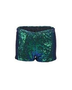 Green sequin hotpants