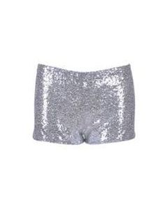 Silver Sequin Hotpants