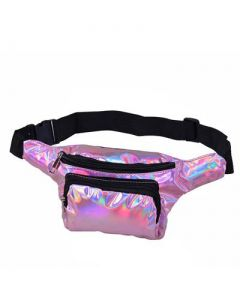 Pink Holographic Bumbag