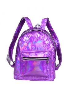 Purple Holographic Back Pack