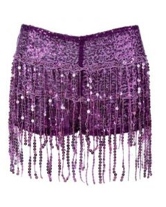 Purple Tassel Hotpants