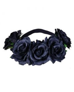 Black Large Flower Garland