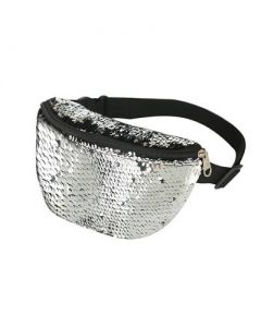 Silver Sequin Bum Bag