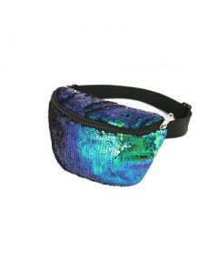 Green Sequin Bum Bags