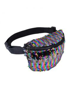 Multi Coloured Sequin Bum Bag